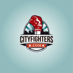 Powerful free logo template for boxing gym.