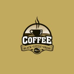 Beautiful free logo template for coffee, download now!!!